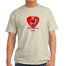 Valentine Heart Alien T-Shirt