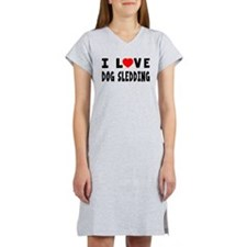 I Love Dog Sledding Women's Nightshirt