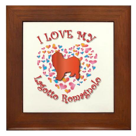 Love Lagotto Framed Tile