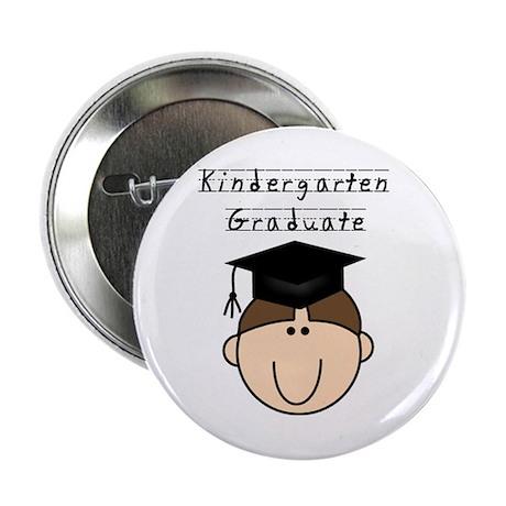 Boy Kindergarten Grad (brown) Button