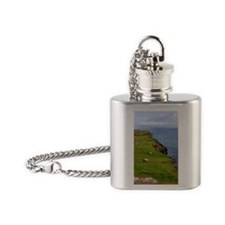 Grazing sheep Flask Necklace