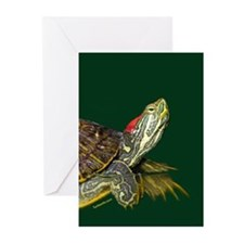 Lively Red Eared Slider Greeting Cards (Pk of 10)