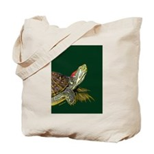 Lively Red Eared Slider Tote Bag