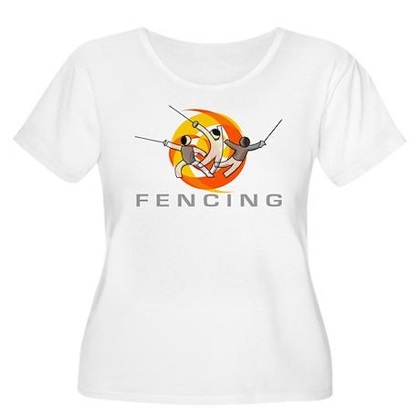 FENCING TRIO Women's Plus Size Scoop Neck T-Shirt