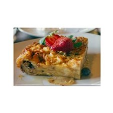Close up of bread pudding Rectangle Magnet