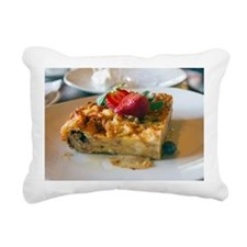Close up of bread puddin Rectangular Canvas Pillow