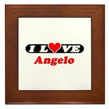 I Love Angelo Framed Tile