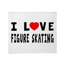 I Love Figure Skating Throw Blanket