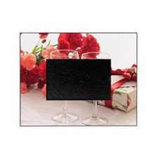 Two Glasses of Red Wine and Present Picture Frame