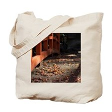 Red parapet with autumn color Tote Bag