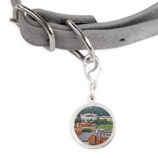 Downtown Fort Wayne Small Round Pet Tag