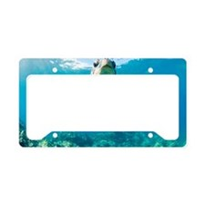 Blue turtle in sea License Plate Holder