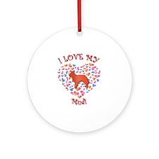 Love Mudi Ornament (Round)
