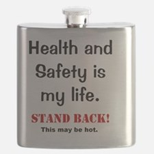 Health and Safety Funny Health Warning Flask