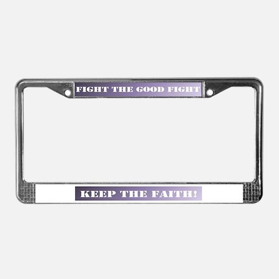 Keep the faith License Plate Frame