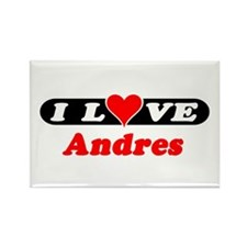 I Love Andres Rectangle Magnet (100 pack)