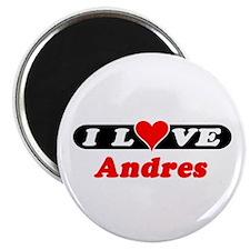 "I Love Andres 2.25"" Magnet (100 pack)"