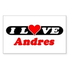 I Love Andres Rectangle Decal
