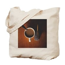 Coffee and knitting project Tote Bag