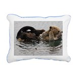 California Sea Otter Rectangular Canvas Pillow
