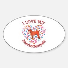 Love Norrbottenspets Oval Decal