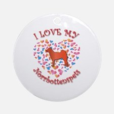 Love Norrbottenspets Ornament (Round)
