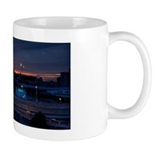 Highway at night, fading sunset Mug