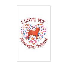 Love Buhund Rectangle Decal