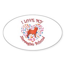 Love Buhund Oval Decal