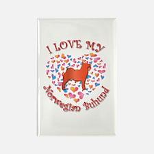 Love Buhund Rectangle Magnet (100 pack)