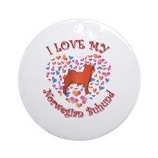 Love Buhund Ornament (Round)
