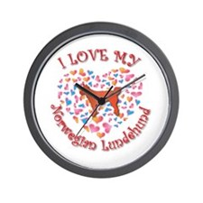Love Lundehund Wall Clock