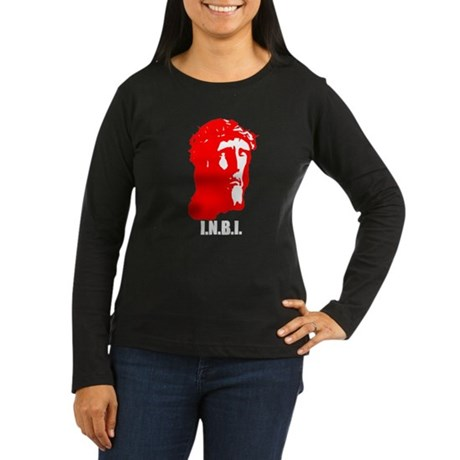 I.N.B.I Women's Long Sleeve Dark T-Shirt