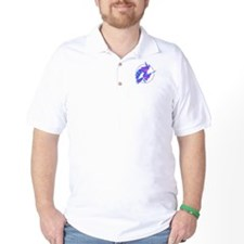 Aqua Blue Flying Witch T-Shirt