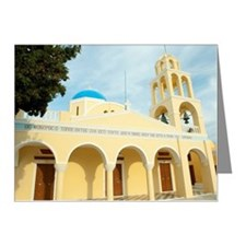 Yellow orthodox Greek church Note Cards (Pk of 20)