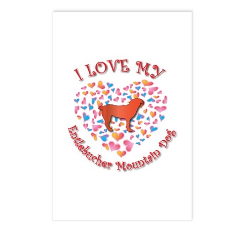 Love Entlebucher Postcards (Package of 8)