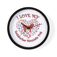 Love Entlebucher Wall Clock