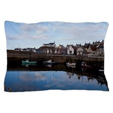 The village of Findochty, Scotland Pillow Case