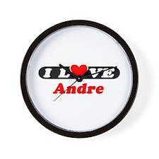 I Love Andre Wall Clock