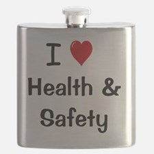 I Love Health and Safety Flask