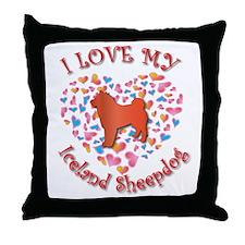 Love Sheepdog Throw Pillow