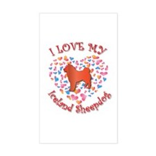 Love Sheepdog Rectangle Decal