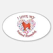 Love Sheepdog Oval Decal