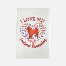 Love Sheepdog Rectangle Magnet