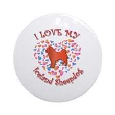 Love Sheepdog Ornament (Round)