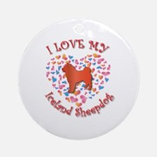 Love Sheepdog Ornament (Round)