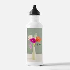 Handmade paper flowers Sports Water Bottle