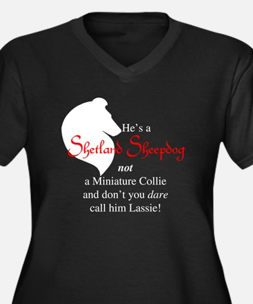 He's NOT a Collie Women's Plus Size V-Neck Dark T-