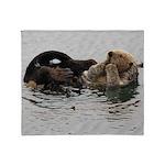 California Sea Otter Throw Blanket