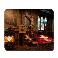 Crucifix and side altar, Notre Dame Basi Mousepad